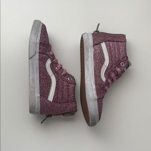 VANS Sparkly Pink Toddler Shoes size 9